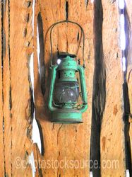 Old Green Oil Lantern
