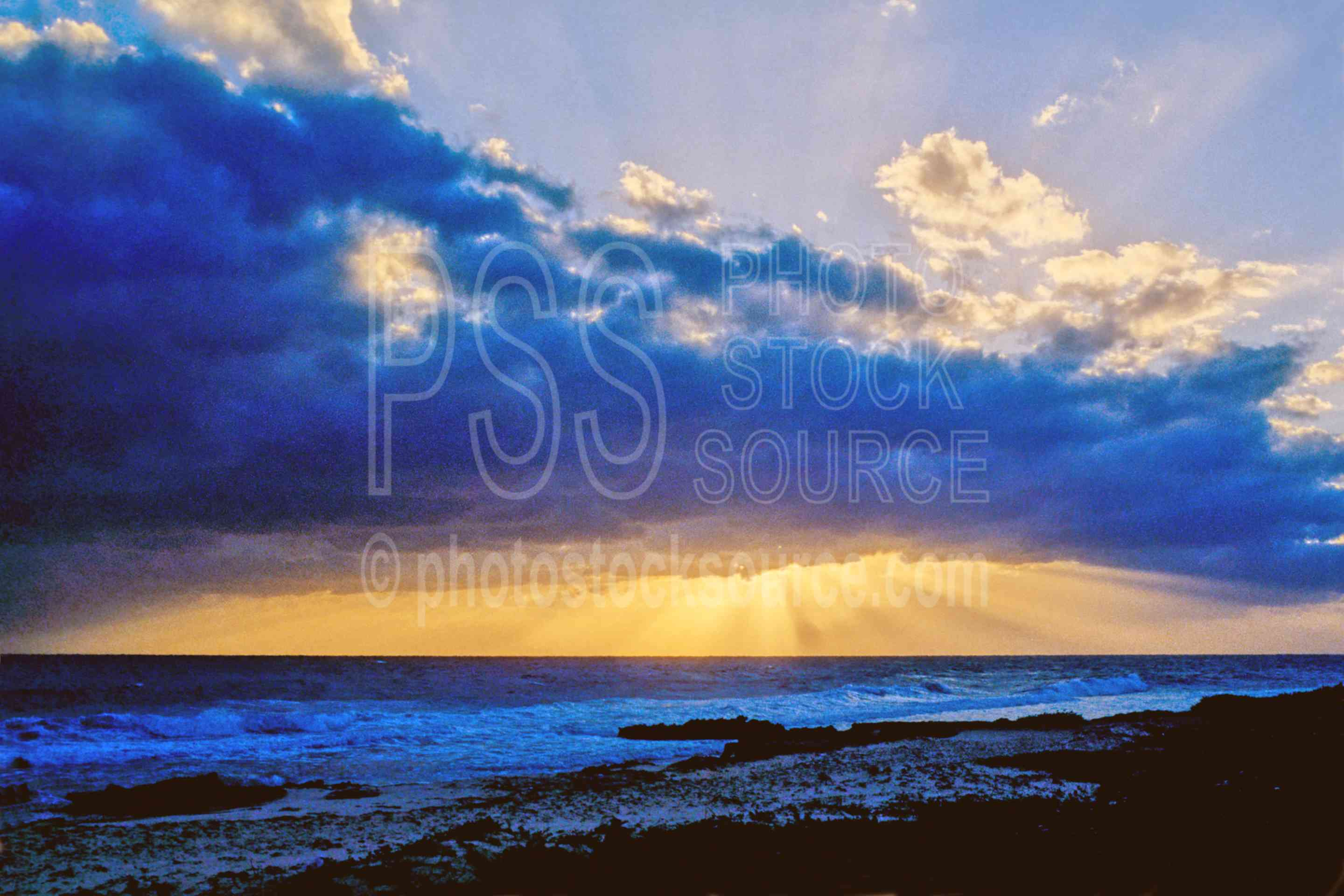 Ocean Sunset,sunset,clouds,seascapes,nature,coast