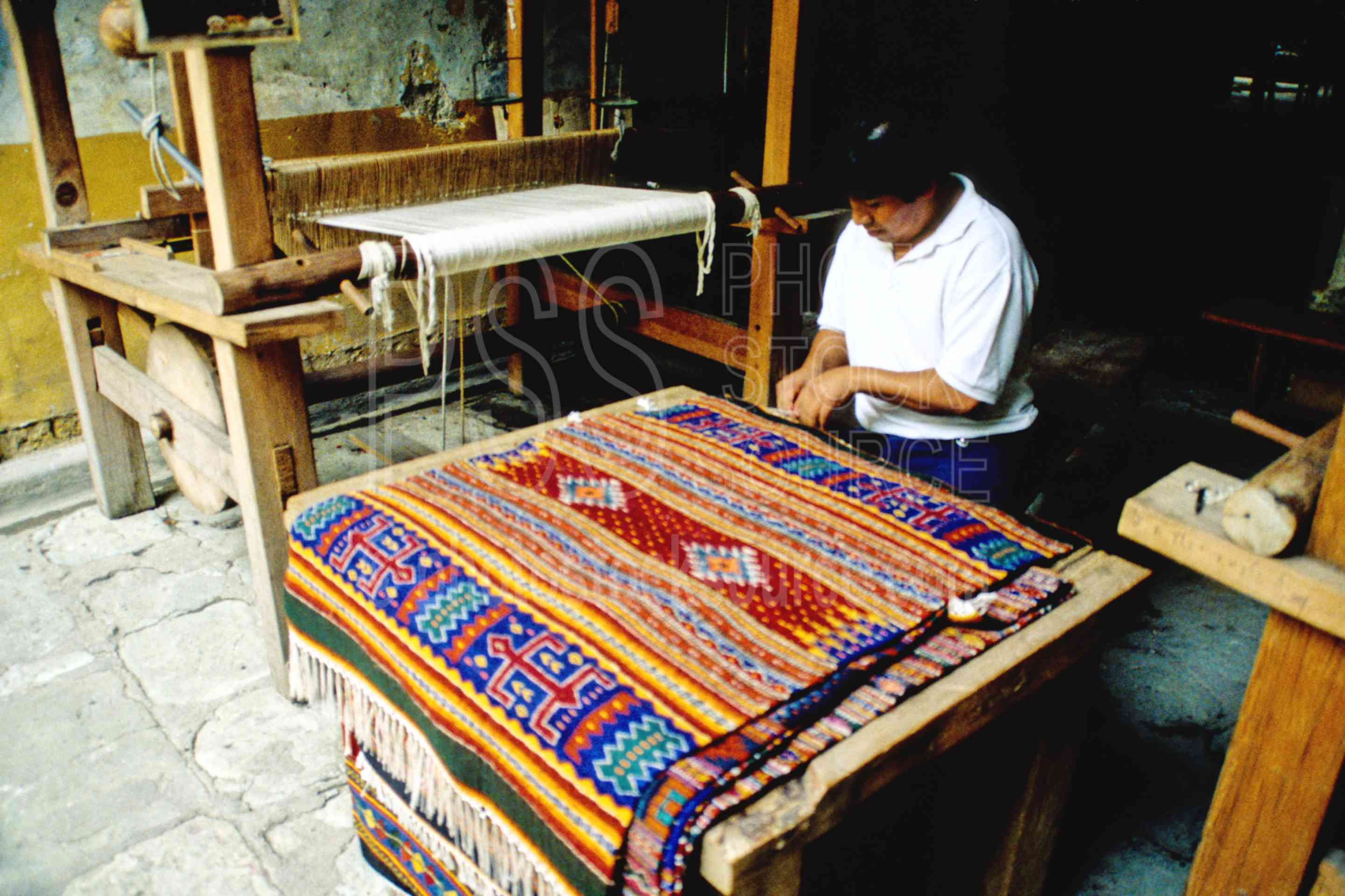 Photo Of Zapotec Rug Loom By Photo Stock Source Art
