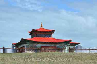 Red Roofed Temple