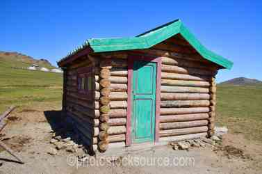 Mongolian Log Cabin
