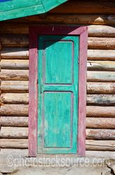 Mongolian Log Cabin Door