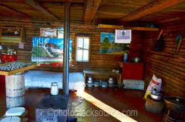 Mongolian Log Cabin Interior