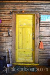 Cabin Yellow Door