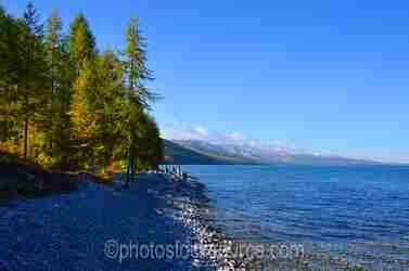 Lake Khovsgol Gravel Shore