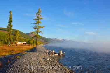 Morning Fog on Lake Khovsgol