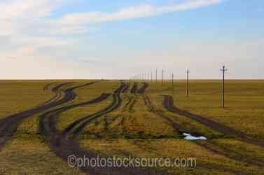 Typical Road in the Gobi