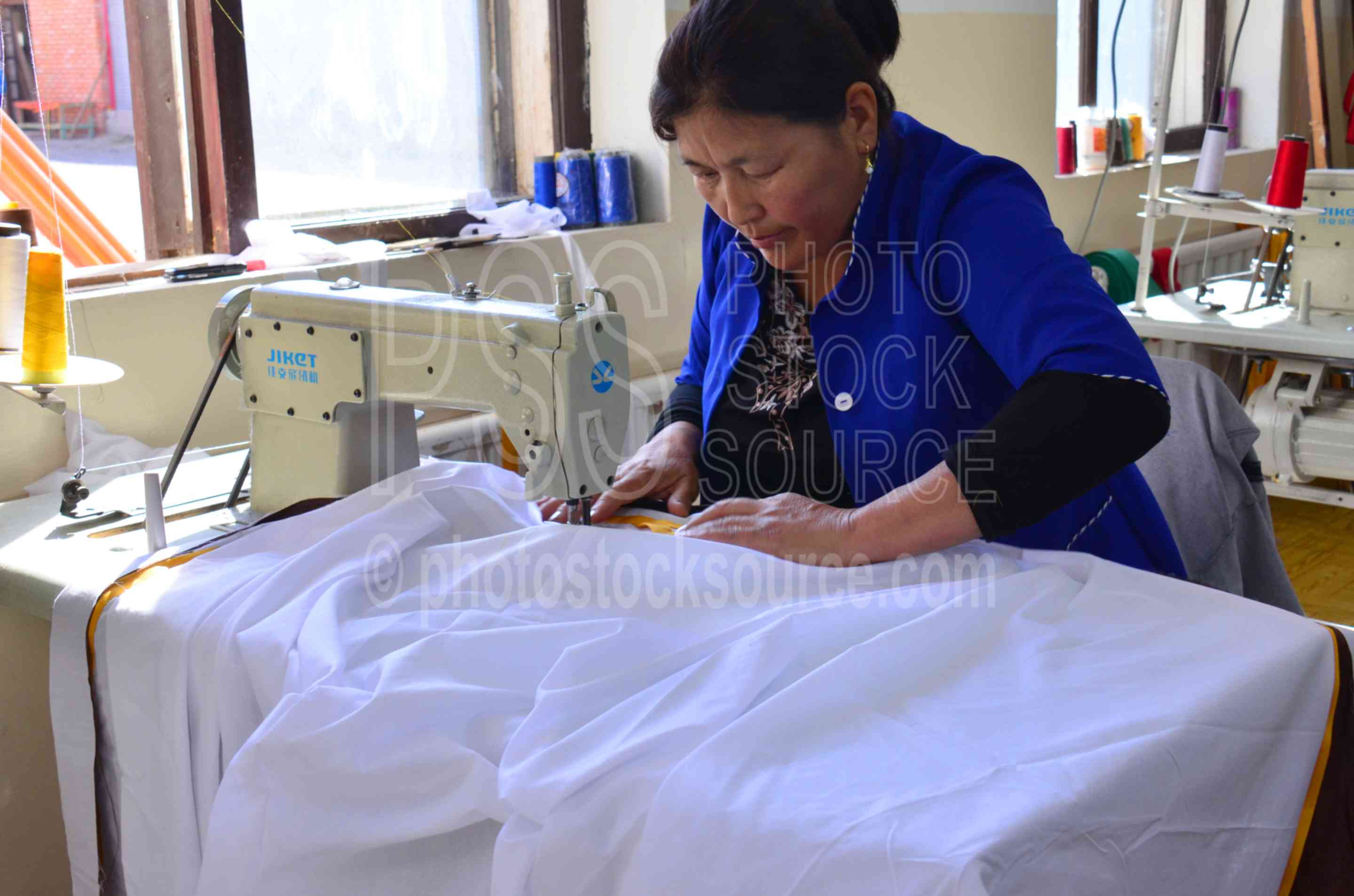 Woman Sewing Ger Covers,woman,working,factory,ger,yurt,shelter,manufacture