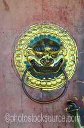 Dalai Lama Sum Temple Door