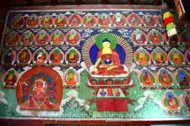Zuun Zuu Temple Wall Painting