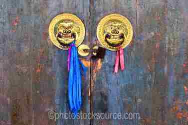 Lavrin Sum Temple Doors