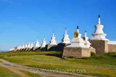 North Wall Stupas