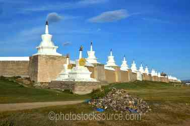 South Wall and Stupas