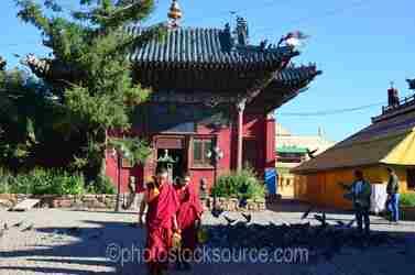 Vajradhara Temple Monks