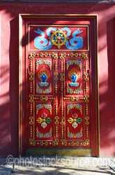 Gandan Monastery Colorful Door