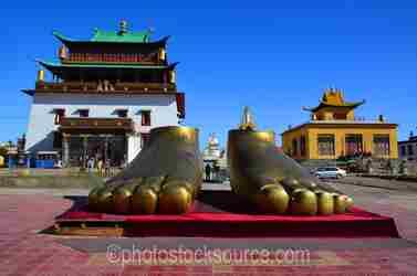 Golden Feet of Boeddha Statue