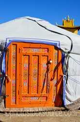 Orange Ger Door