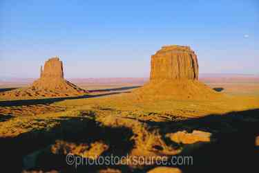 East Mitten, Merrick Butte - East Mitten and Merrick Butte at sunset
