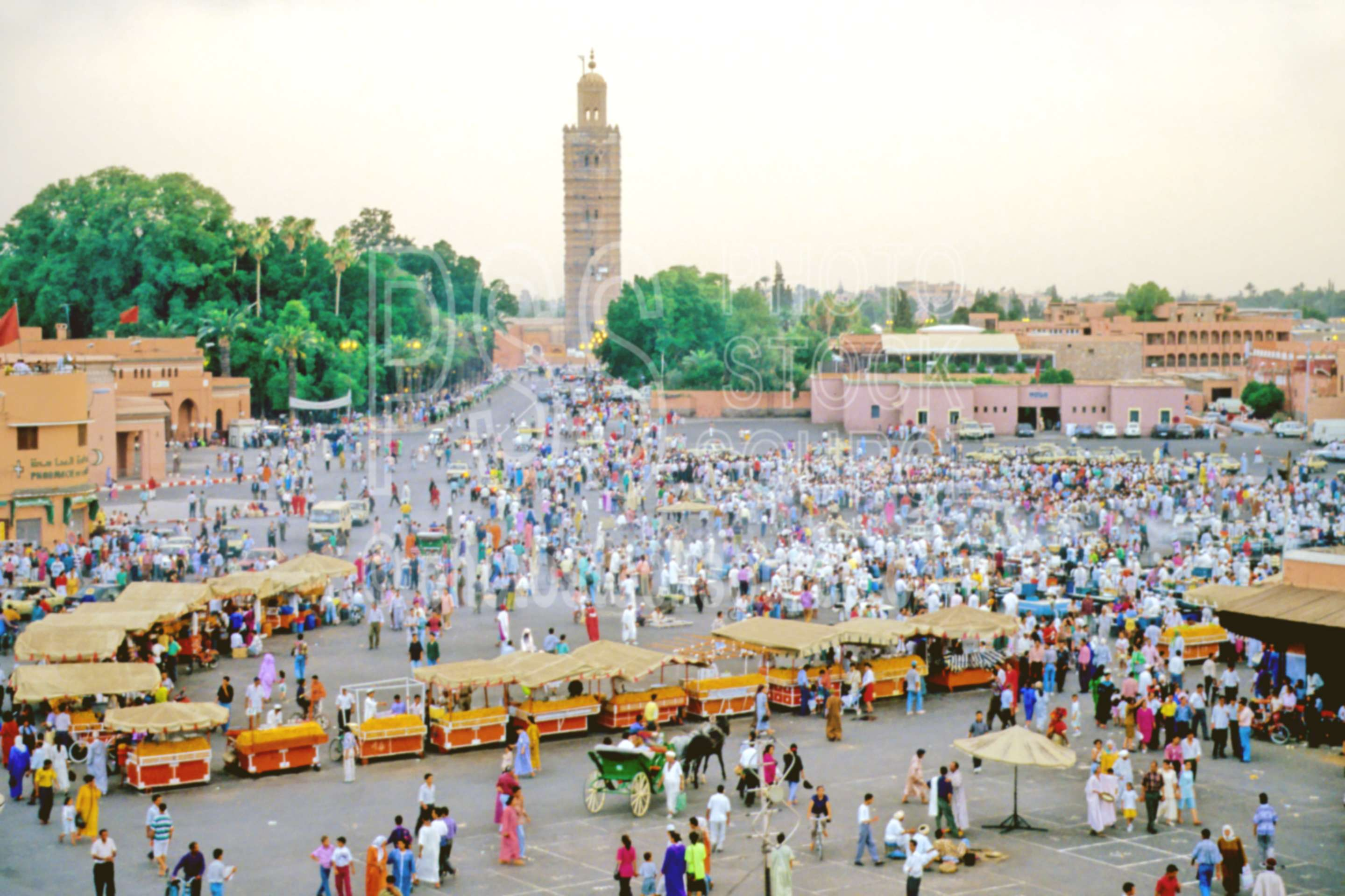 Djamaa El Fna Square,minaret,mosque,plaza,square,tower,morocco mosques