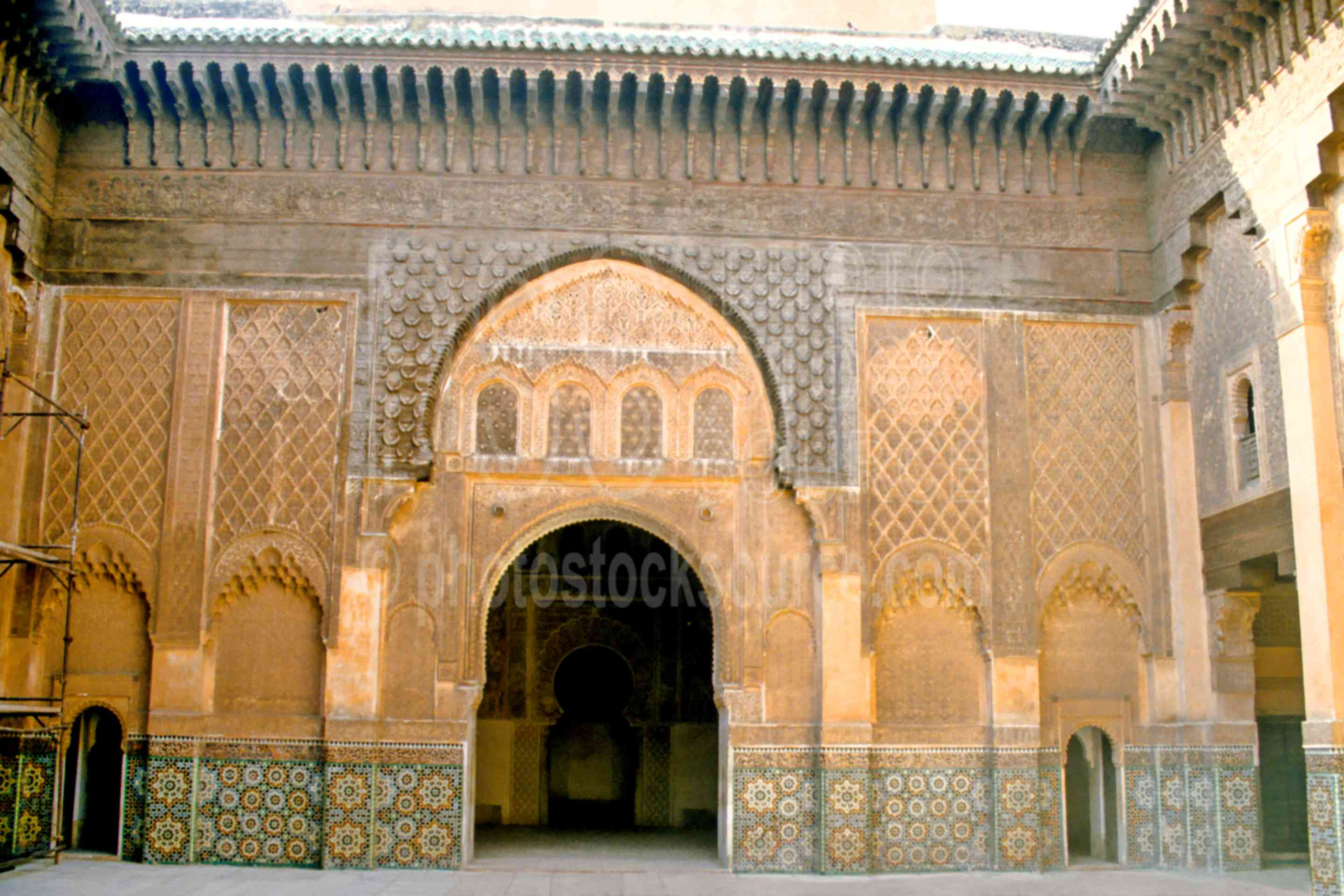 Ben Youseff Koran School,arch,decoration,door,school,morocco mosques