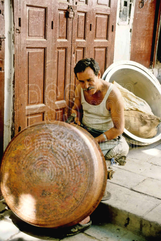 Tin Worker,alley,fezs,market,metal,street,work,worker,fezs,morocco markets,cargo