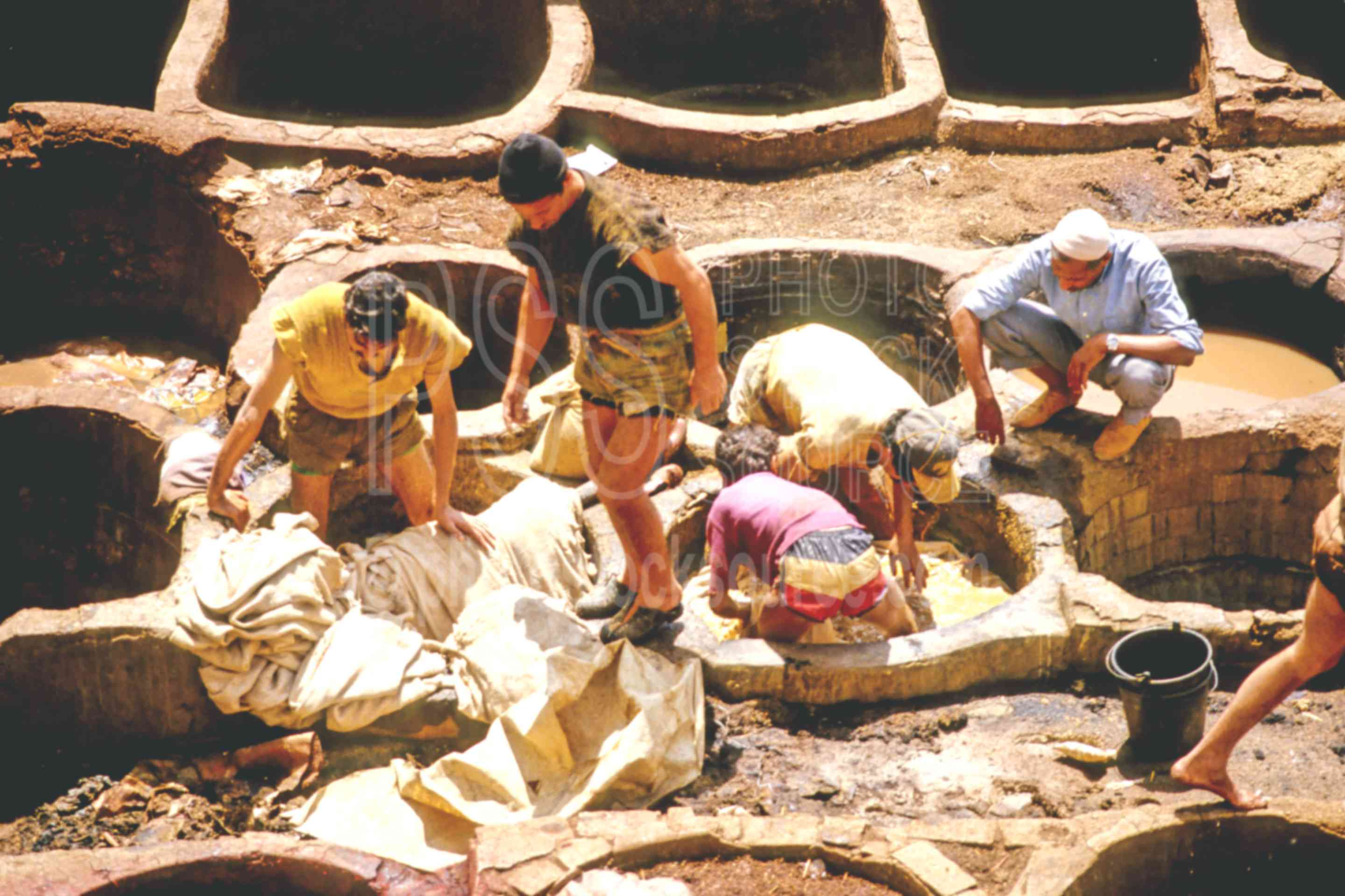 Workers in the Tannery,fezs,mens,skins,tannery,work,worker,fezs,cargo