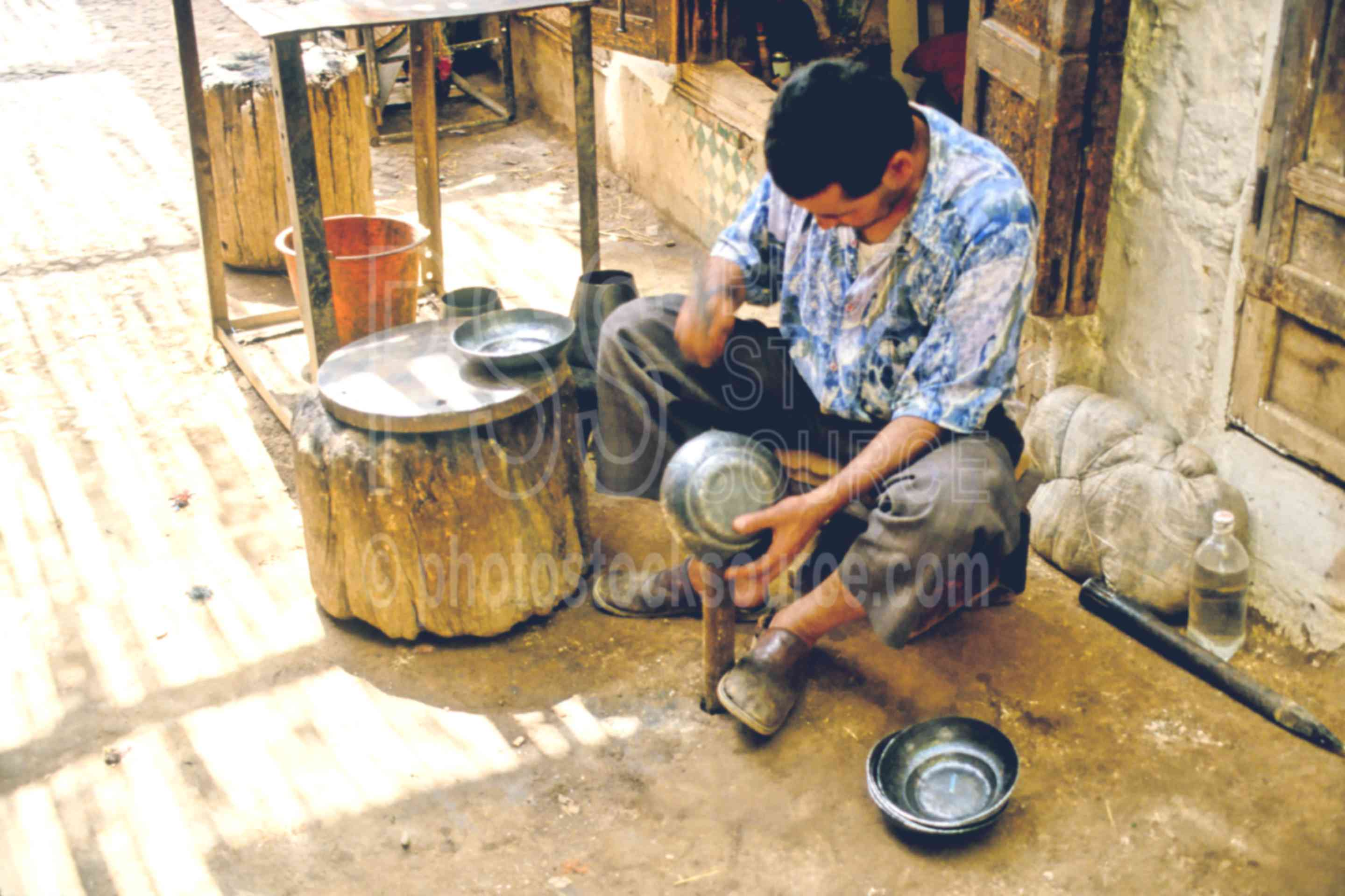 Metal Worker,mans,metal,smith,work,worker,tools instruments,morocco markets,cargo