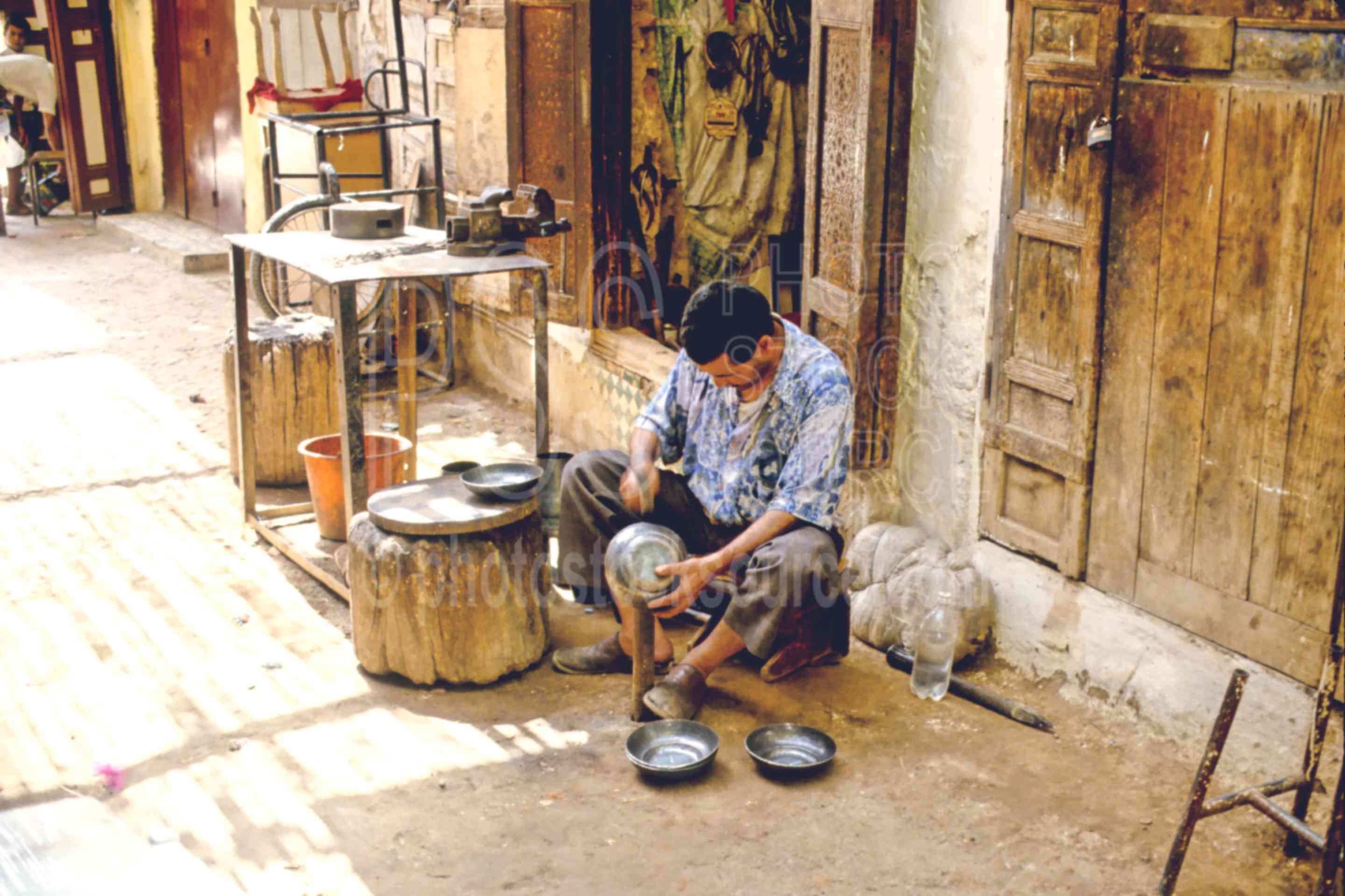 Metal Worker,mans,metal,smith,work,worker,morocco markets,cargo