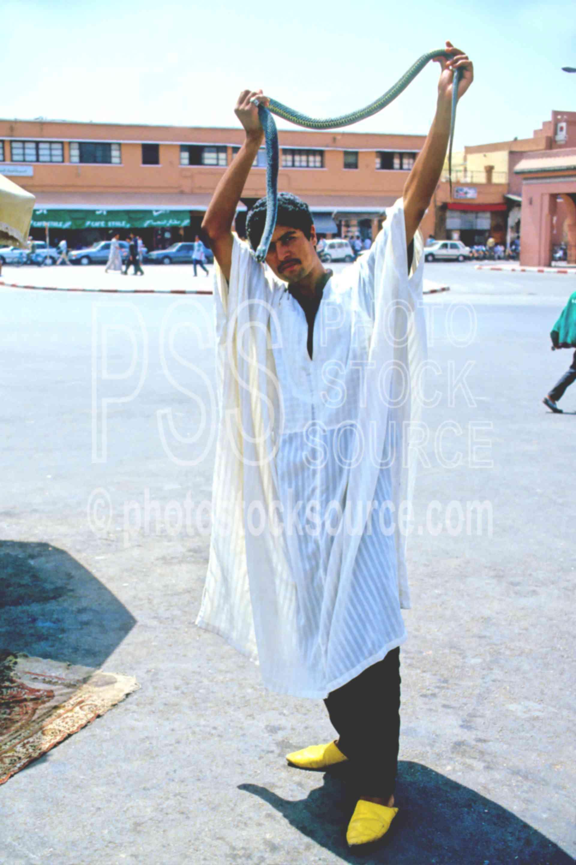 Snake Charmer,animal,snake,work,worker,morocco markets