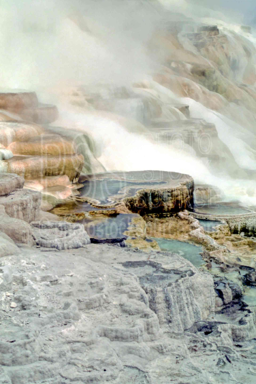 Mammoth Hot Spring,hot spring,usas,national park,nature,national parks