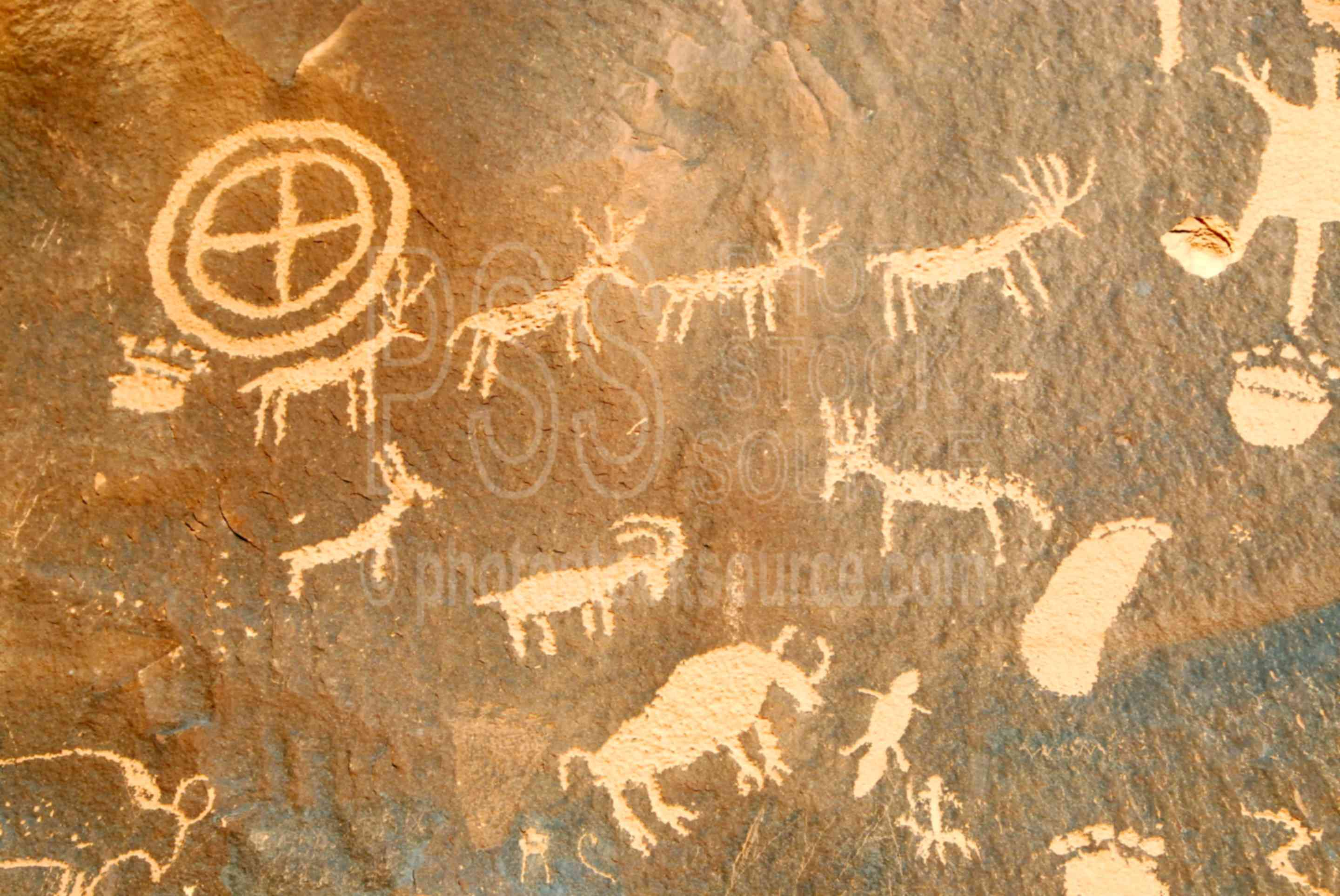 Photo Of Newspaper Rock Petroglyphs By Photo Stock Source