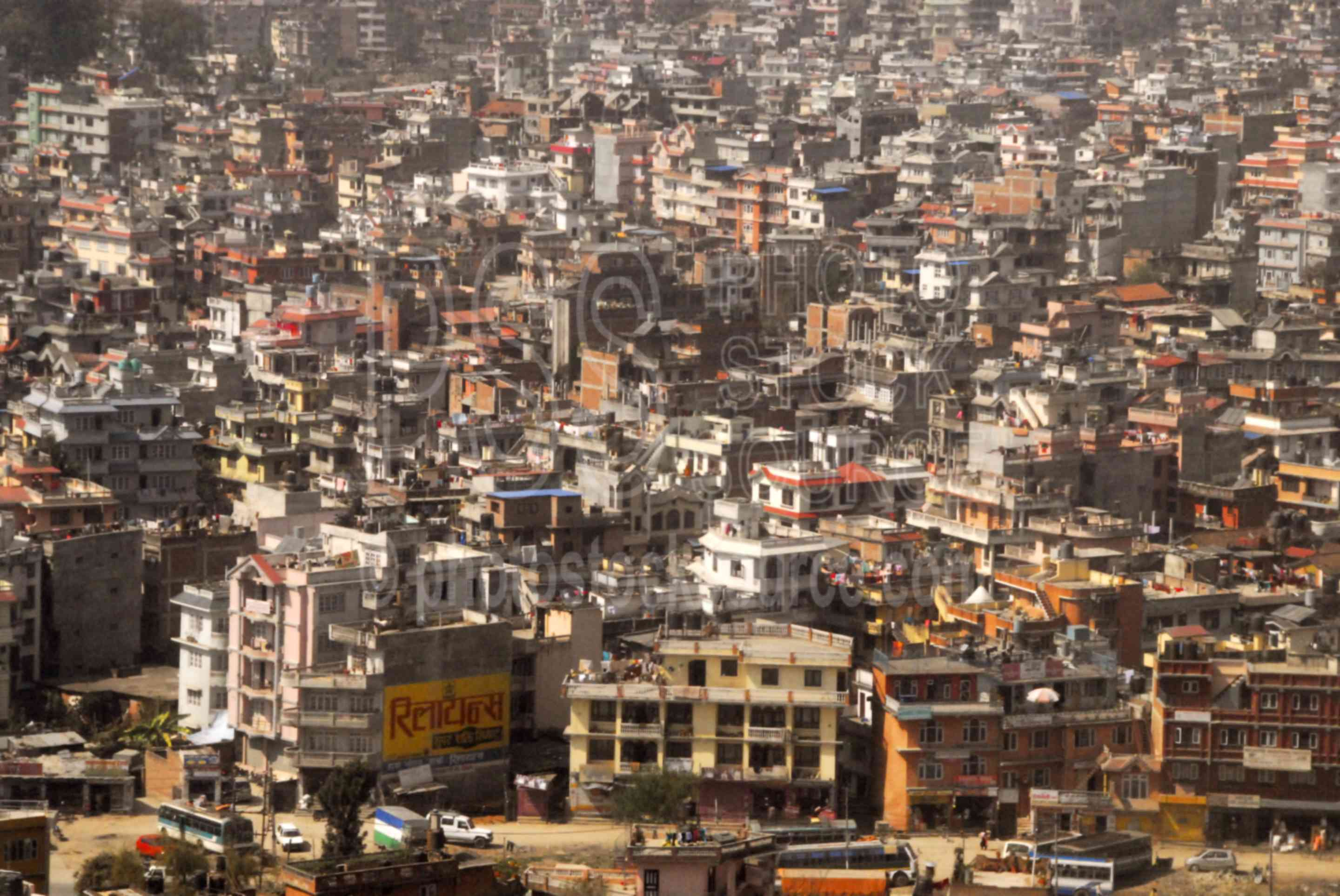 Kathmandu from Air,aerial,flying,city,buildings,smog,pollution,cities,aerials