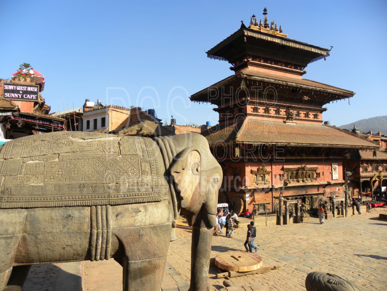 Bhairava Temple,taumadhi,square,tole,tol,statue,elephant,bhairavnath