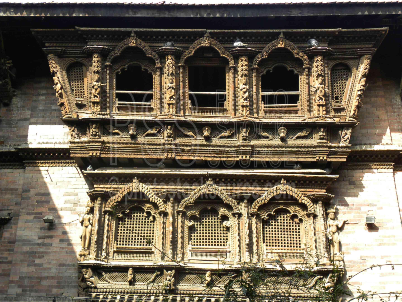 Kumari Palace Windows,kumari,girl,young,house,courtyard