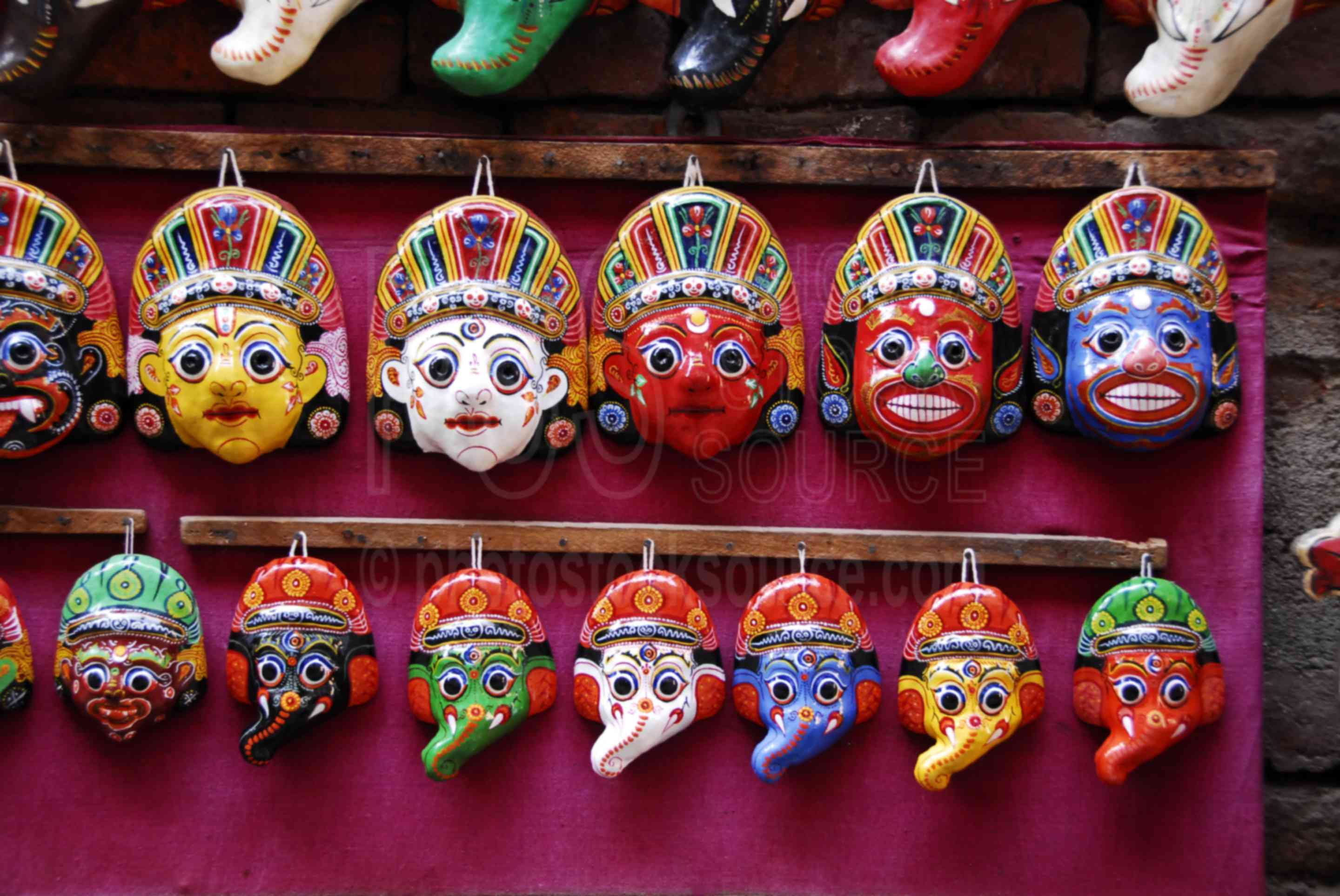 Photo of Nepalese Guardian Masks by Photo Stock Source art