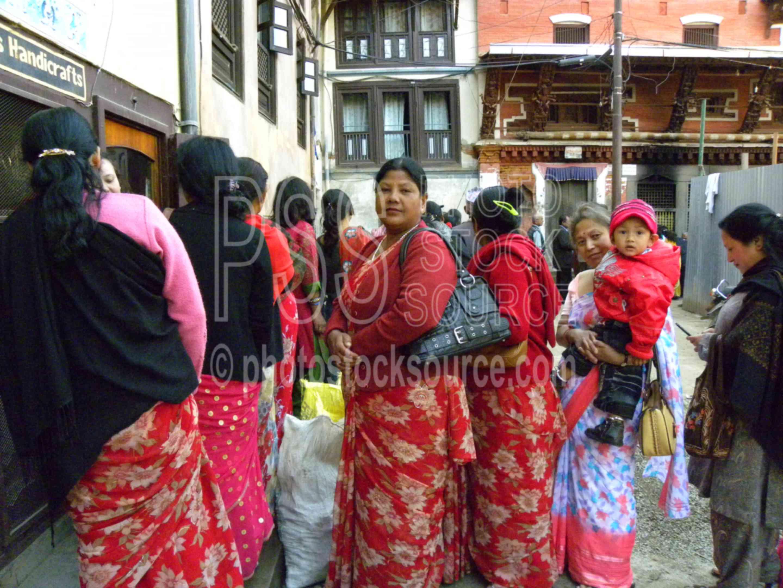 People Waiting in Line,women,line,waiting,nag bahal,haga bahal,courtyard