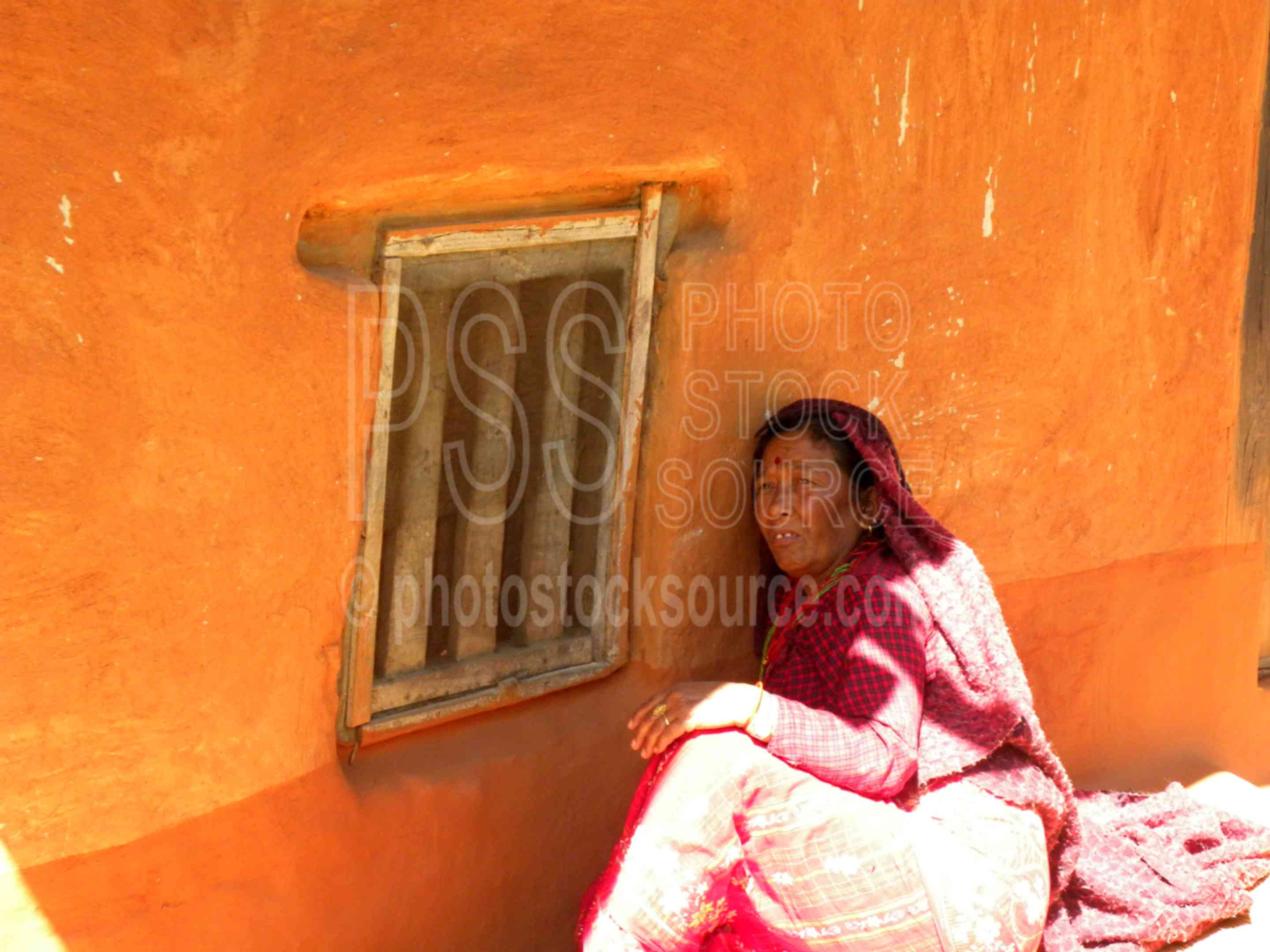 Woman in front of House,farm,farm house,woman,highlands