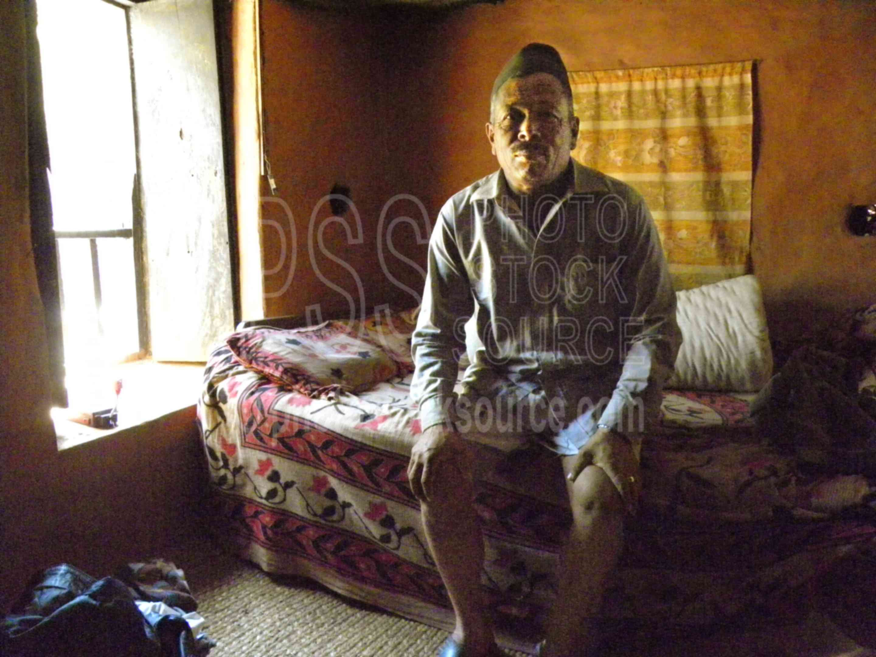 Man in Bedroom,farm,farm house,highlands,bed,bedroom