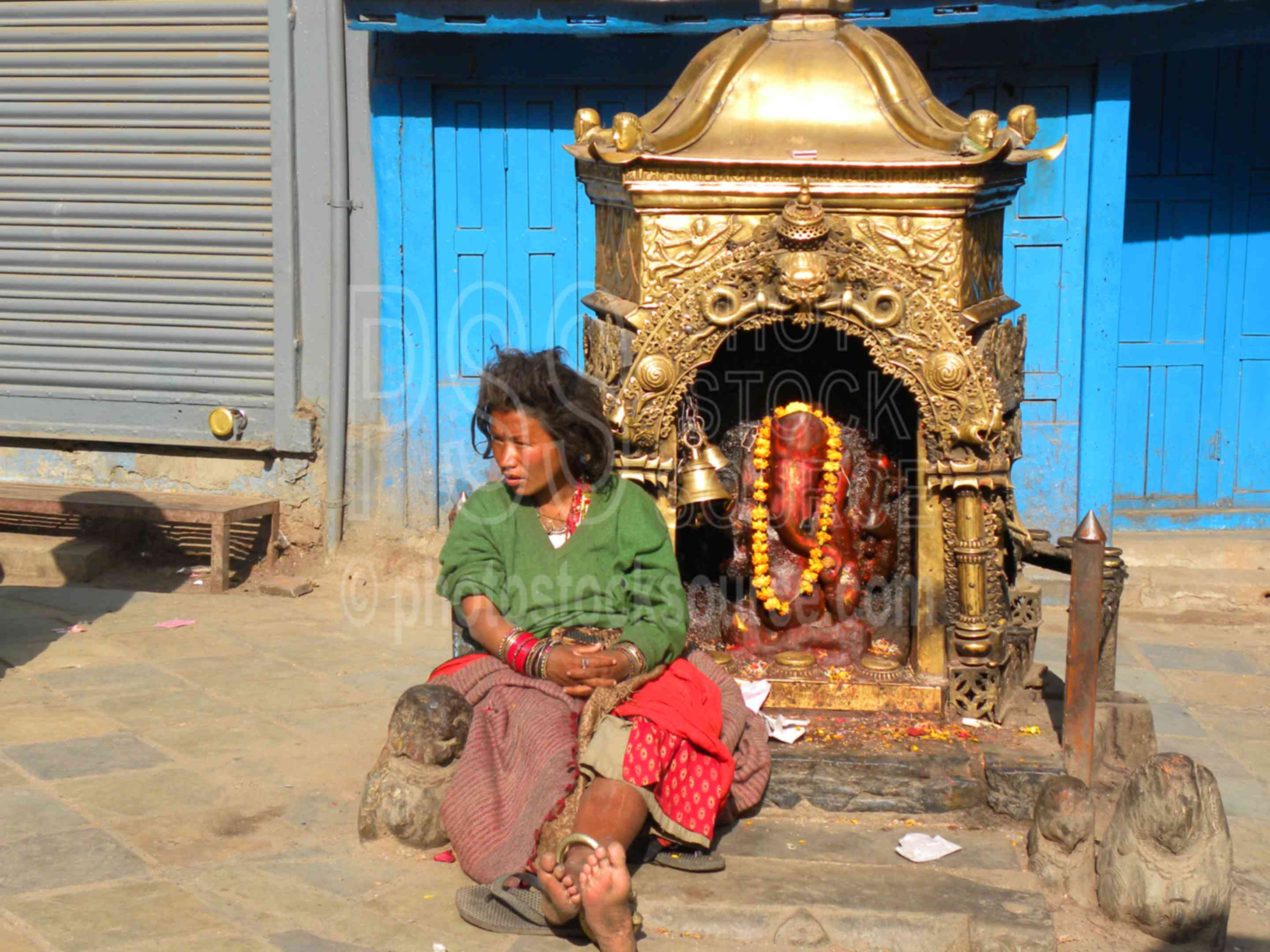 Woman by Shiva Temple,street,people,woman