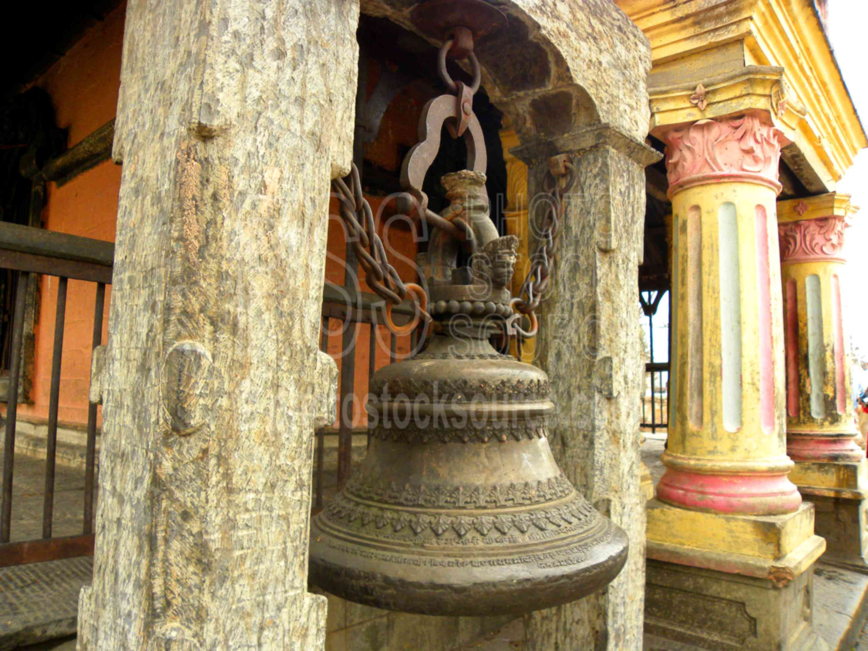 Shrine Bell,people,monk,religious,holy,man,architecture