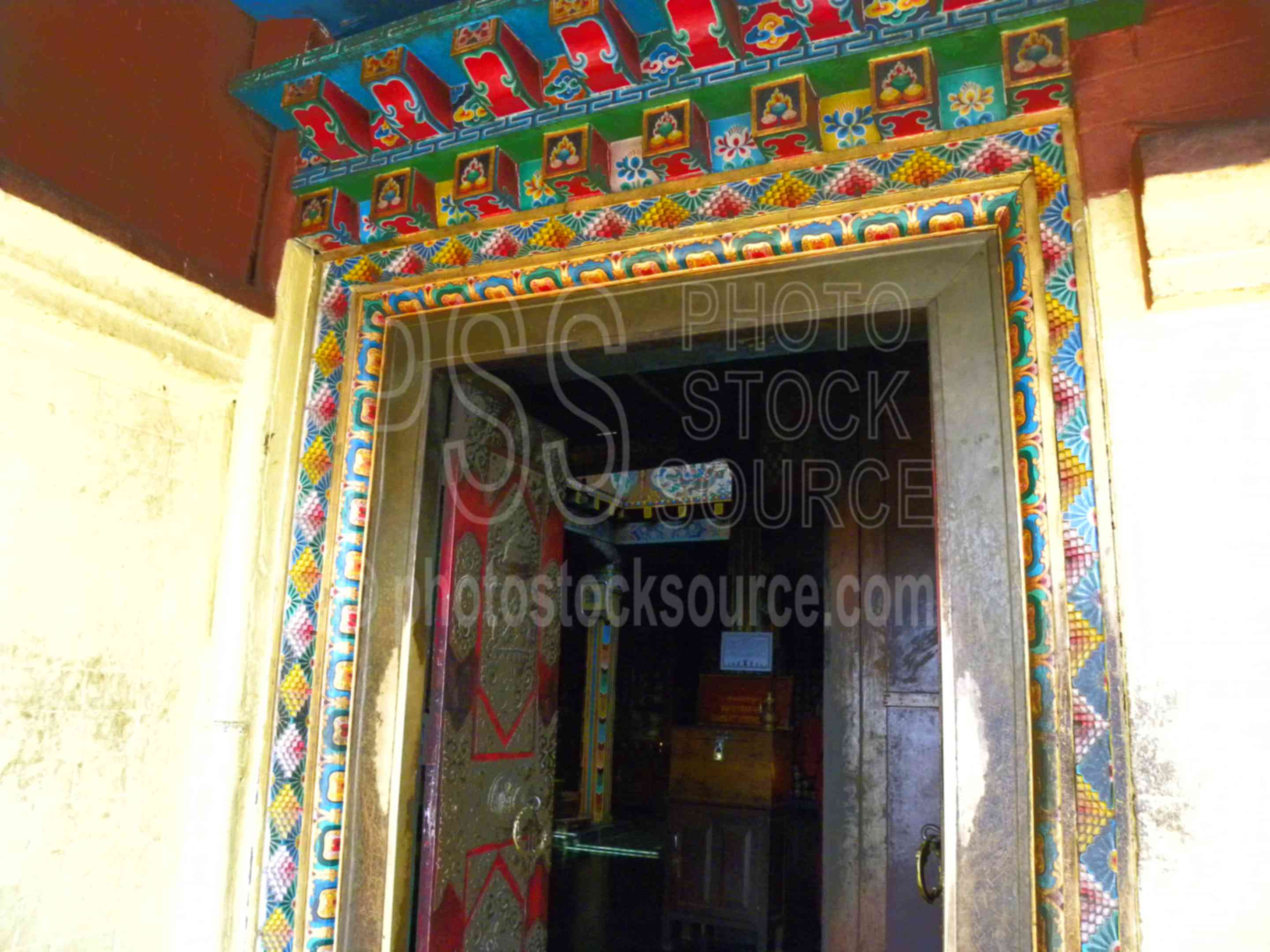 Colorful Door,shrine,temple,worship,buddhist,religious,door,architecture,temples