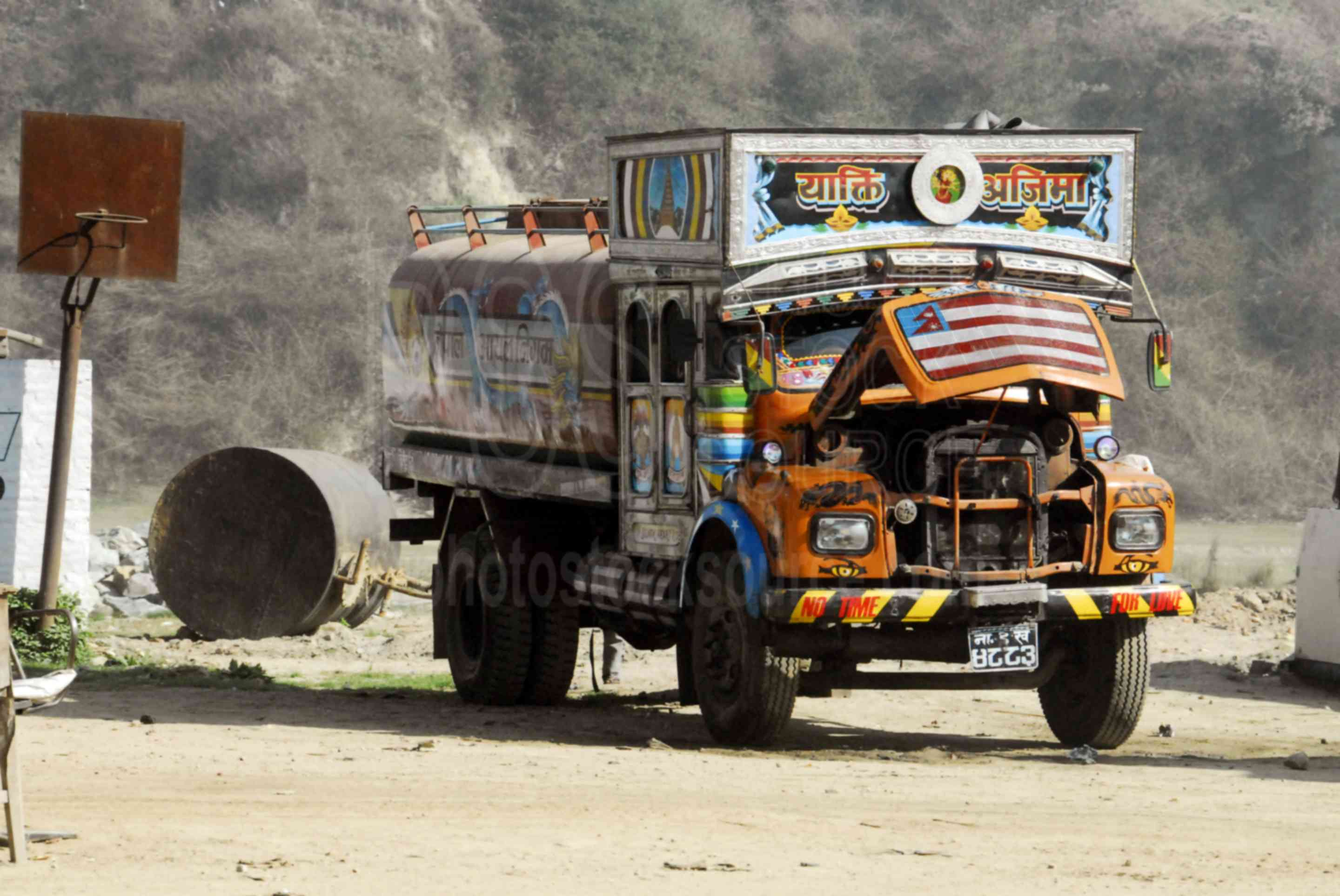 Fancy TaTa Truck,truck,freight,colors,transportation