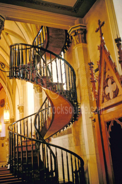 Spiral Staircase,chapel,church,staircase,carpenter,usas,spiral staircase,US Churches,churches