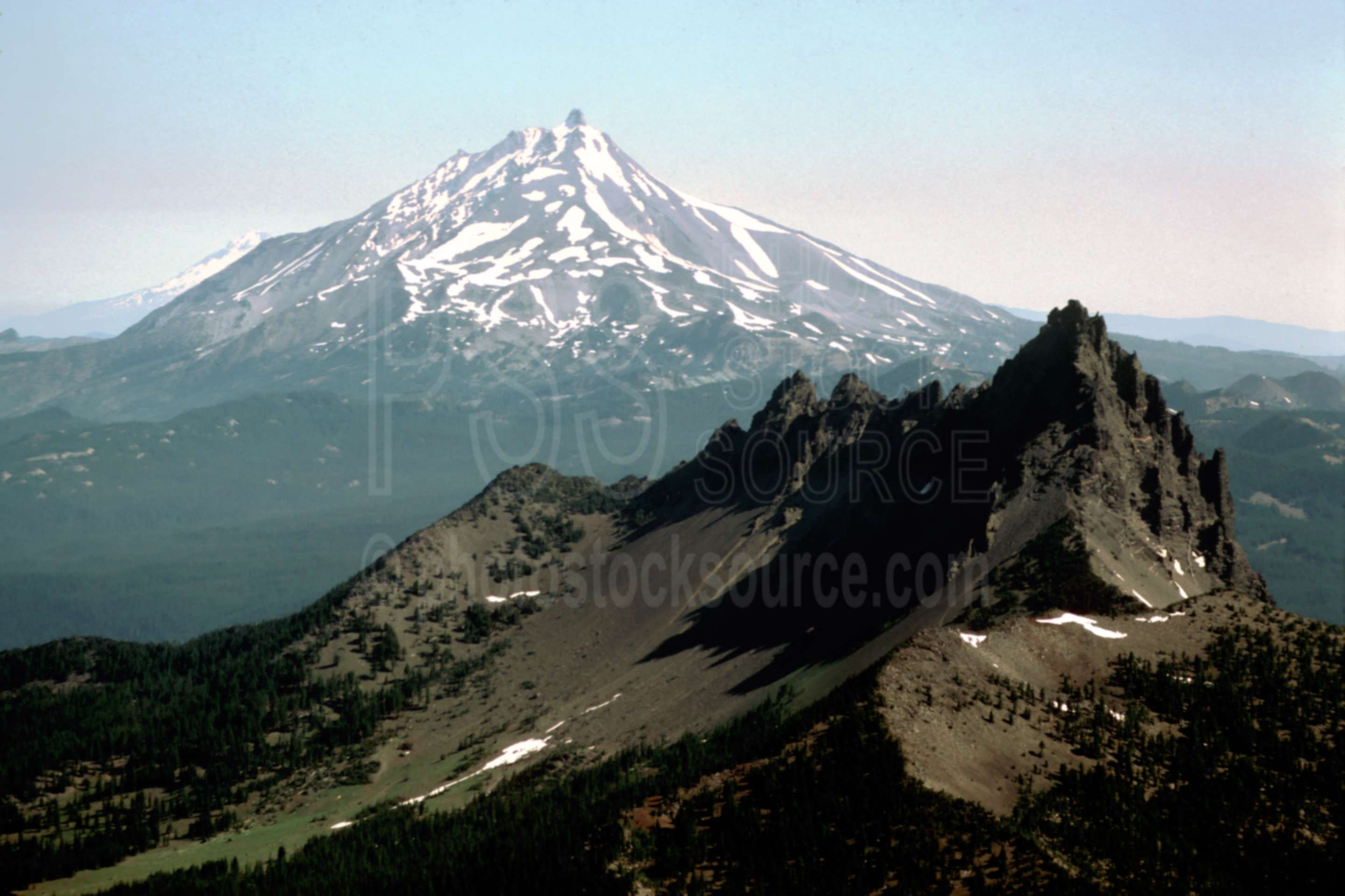 Jack and Mt. Jefferson,aerial,mt. jefferson,three fingered jack,usas,mountains,aerials