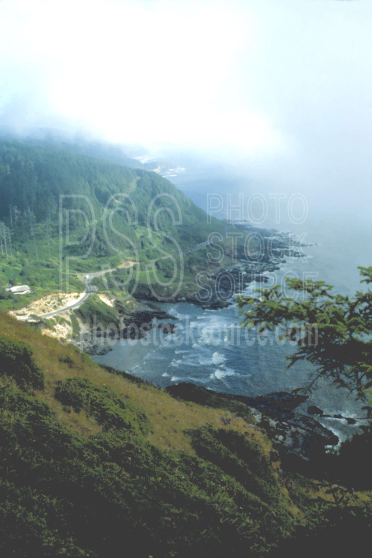 From Cape Perpetua,cloud,coastline,fogs,usas,nature