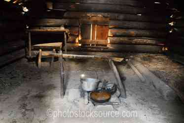 Inside Homesteader Cabin