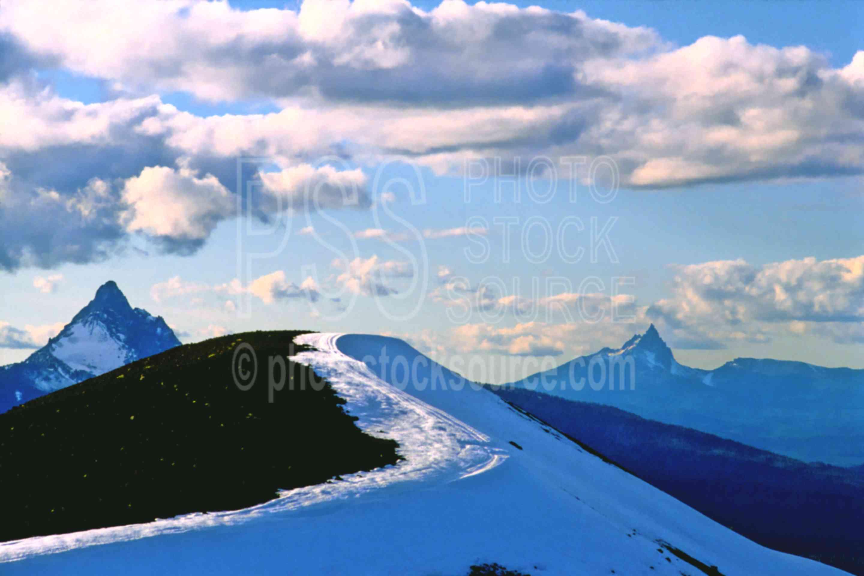 Mt. Washington and Jack,mt. washington,three fingered jack,yapoah crater,mount,usas,mountains