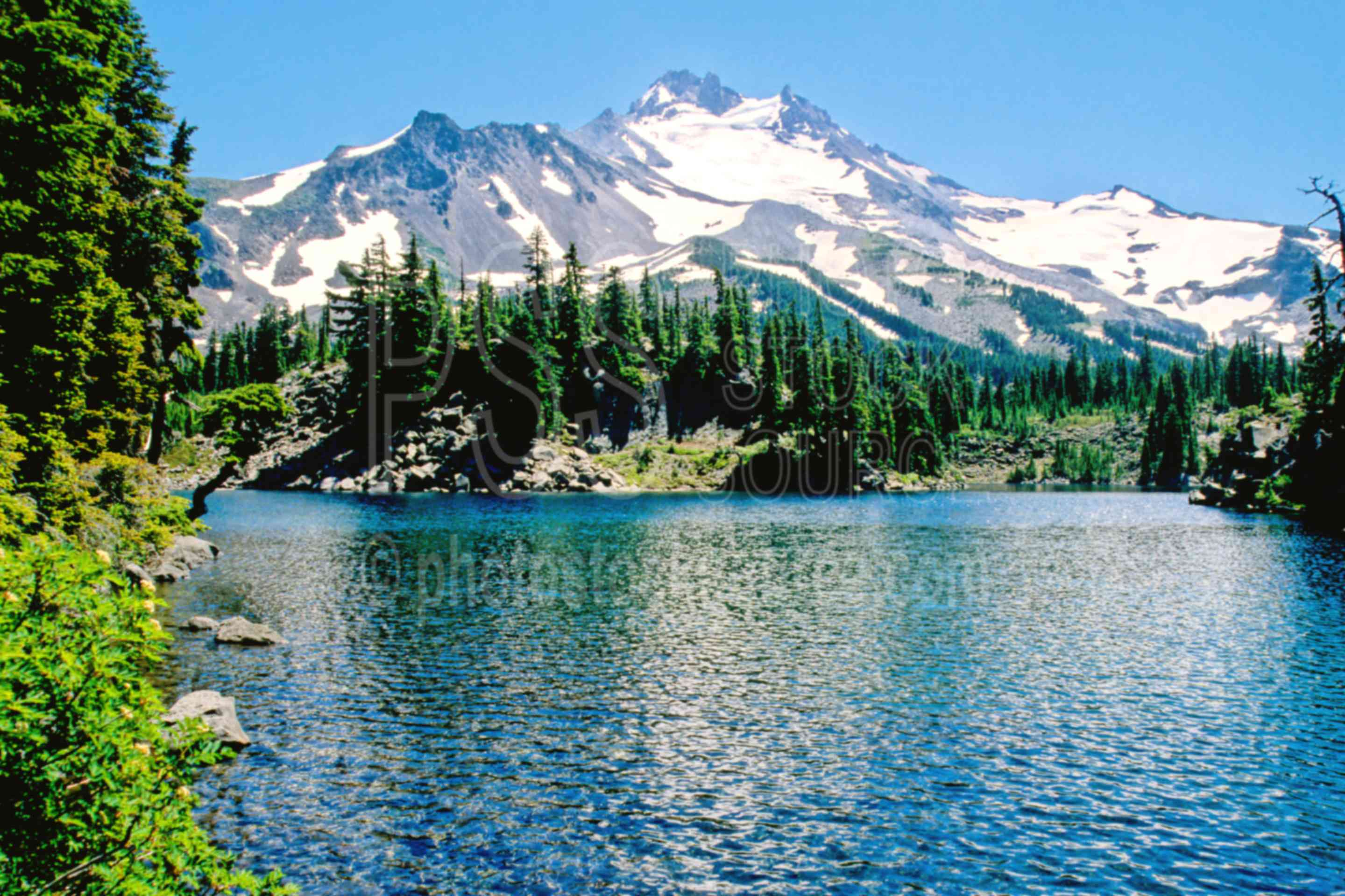 Mt. Jefferson, Bays Lake,jeff park,bays lake,lake,mount,usas,lakes rivers,mountains