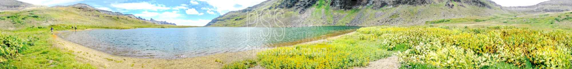 Wildhorse Lake Shoreline,panorama,wildhorse lake,trail,usas,panoramas,lakes panoramas
