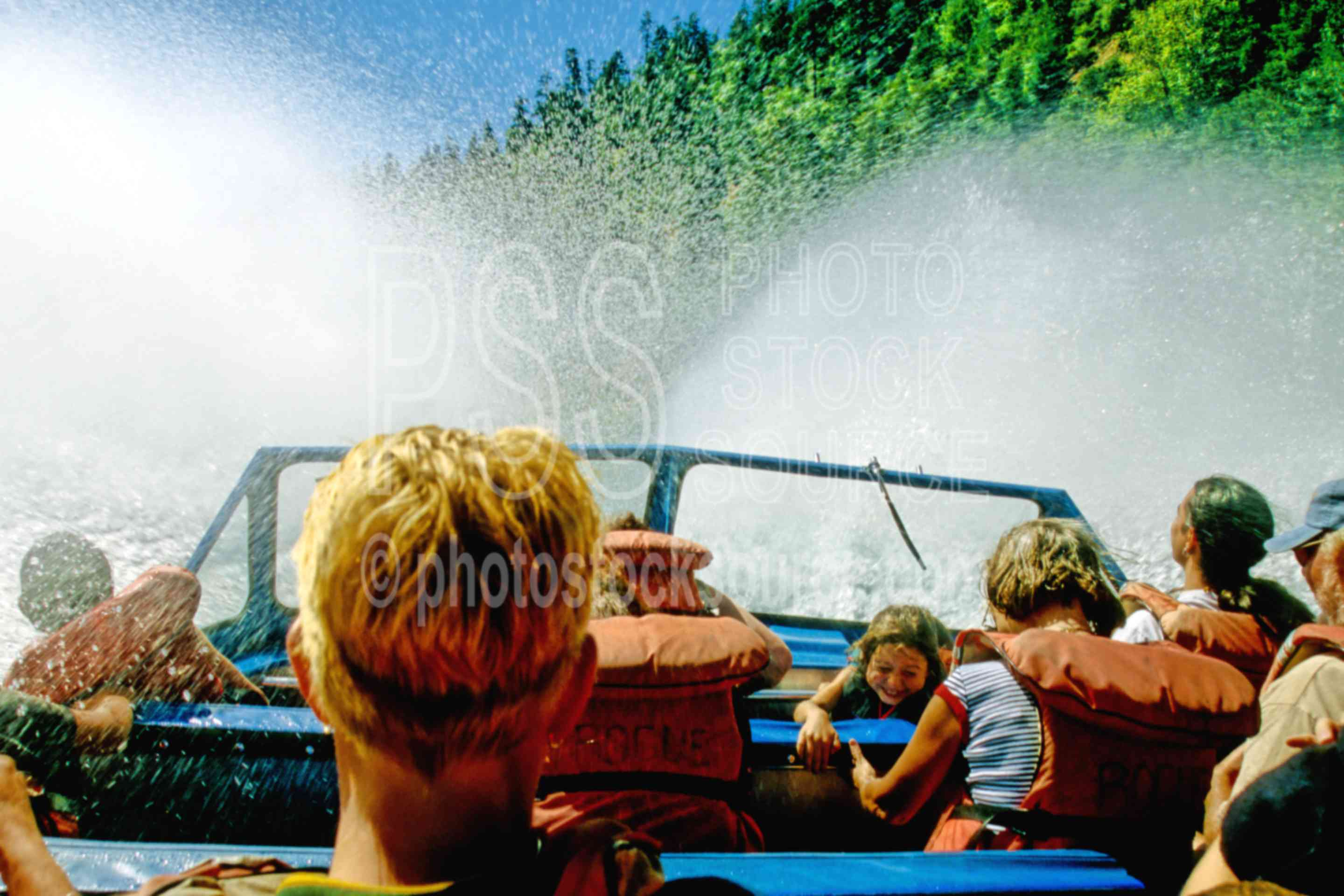 Rogue River Jet Boat,jet boat,rapids,river,wets,people,usas,lakes rivers,boats